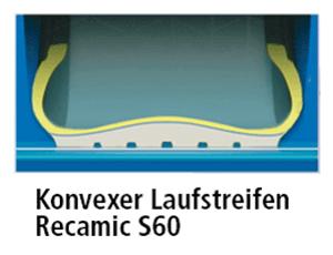 Michelin Recamic Konvexer Laufstreifen