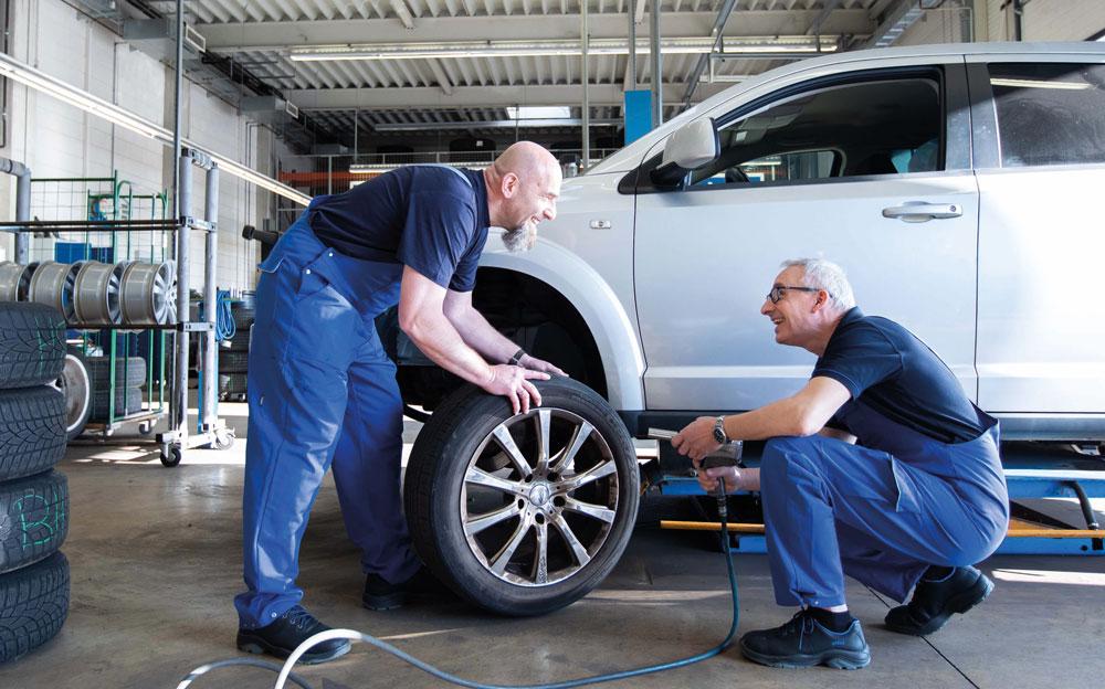 Werkstatt Reifen finden